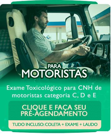 Exame Toxicológico para CNH de Motoristas Categoria C, D e E